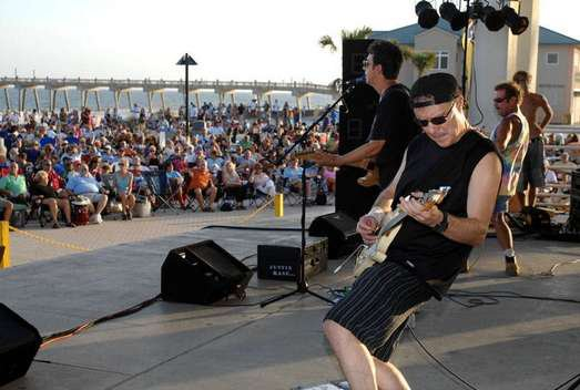 Stuart Redd - Guitarist - Live at Pensacola Beach, Florida with Justin Kase Band